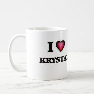 Jag älskar Krystal Kaffemugg