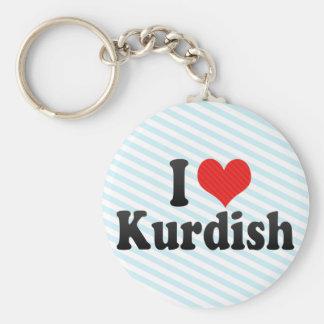 Jag älskar Kurdish Rund Nyckelring
