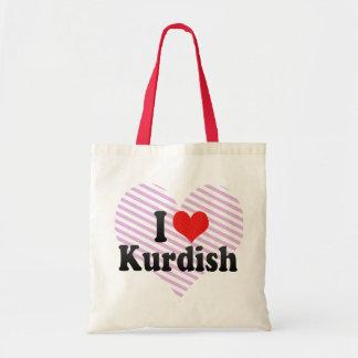 Jag älskar Kurdish Tygkasse