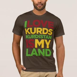 Jag älskar Kurds & kurdistanen Tee Shirt