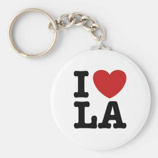 Jag älskar LA Rund Nyckelring