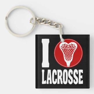 Jag älskar Lacrossekeychain