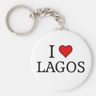 Jag älskar Lagos Rund Nyckelring