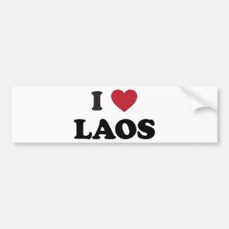 Jag älskar Laos Bildekal