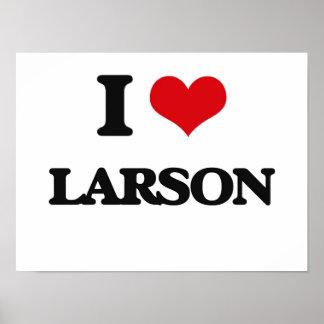Jag älskar Larson Poster