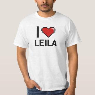 Jag älskar Leila Digital den Retro designen T Shirts