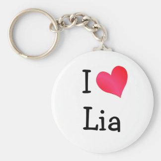 Jag älskar Lia Rund Nyckelring