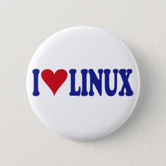 Jag älskar Linux Standard Knapp Rund 5.7 Cm