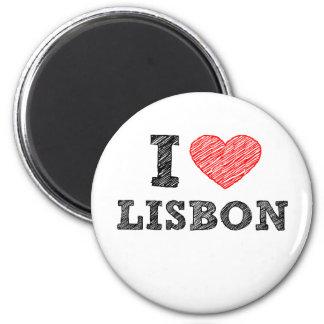 Jag älskar Lisbon Magnet