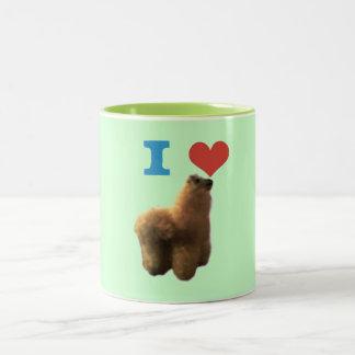 Jag älskar Llamas! Två-Tonad Mugg