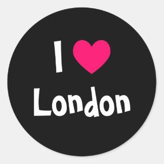 Jag älskar London Runda Klistermärken