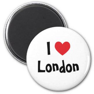Jag älskar London Magnet Rund 5.7 Cm