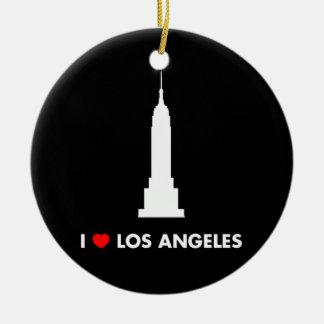 Jag älskar Los Angeles - empire state att bygga Julgransprydnad Keramik