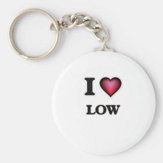 Jag älskar Low Rund Nyckelring