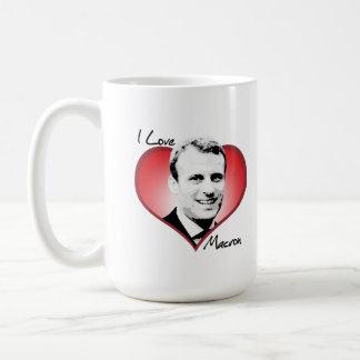 Jag älskar Macron - Kaffemugg