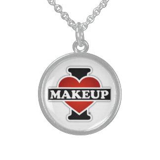 Jag älskar Makeup Sterling Silver Halsband