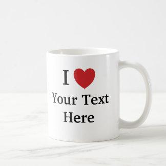 Jag älskar mallmuggen - tillfoga text + Resonerar Vit Mugg