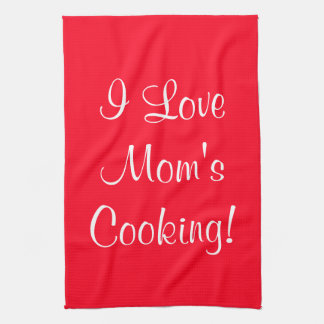 Jag älskar mamma (kända) matlagning kökshandduk