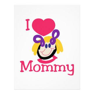Jag älskar mammor brevhuvud
