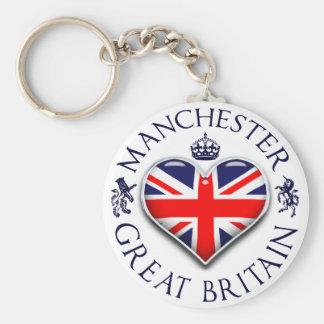 Jag älskar Manchester Rund Nyckelring