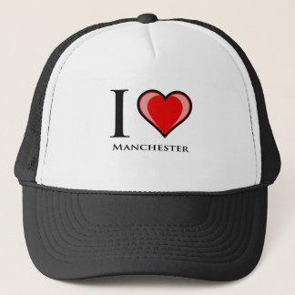Jag älskar Manchester Truckerkeps