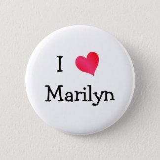Jag älskar Marilyn Standard Knapp Rund 5.7 Cm
