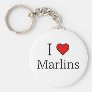 Jag älskar marlins rund nyckelring
