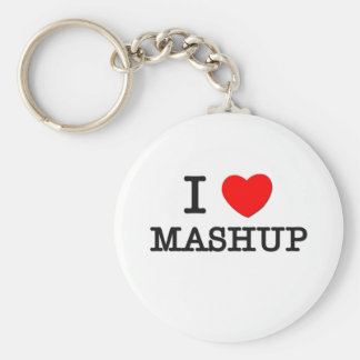 Jag älskar Mashup Nyckel Ring