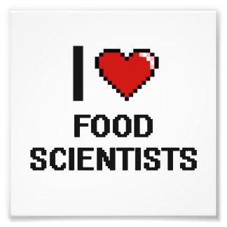 Jag älskar matforskare fototryck