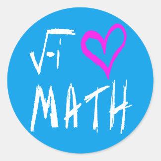 Jag älskar math runt klistermärke