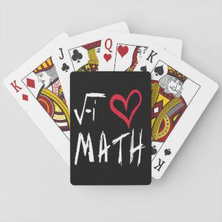 Jag älskar Mathtotomusen som leker kort Casinokort