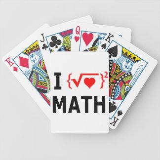 Jag älskar Mathvit Spelkort