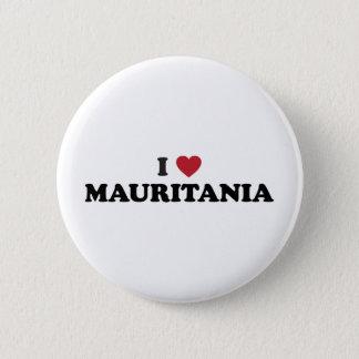 Jag älskar Mauritius Standard Knapp Rund 5.7 Cm