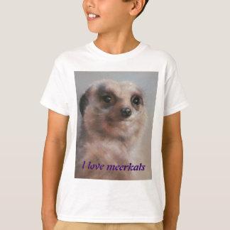 Jag älskar meerkats tee shirt