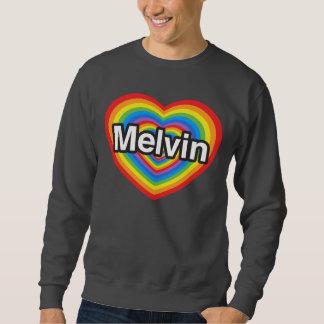 Jag älskar Melvin. Jag älskar dig Melvin. Hjärta Lång Ärmad Tröja