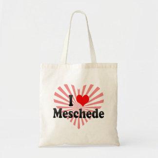 Jag älskar Meschede, Tyskland Budget Tygkasse