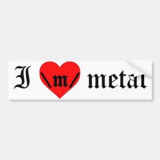 Jag älskar metallbildekalet bildekal