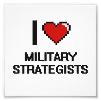 Jag älskar militära strateger fototryck