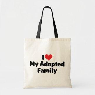 Jag älskar min adoptiv- familj tygkassar