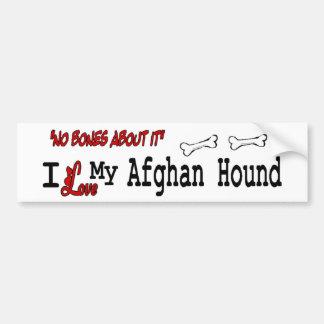 Jag älskar min afghanska hund bildekal