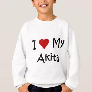 Jag älskar min Akita hundgåvor och hund T Shirt