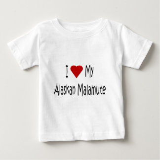 Jag älskar min alaskabo Malamutehund älskaregåvor T-shirt
