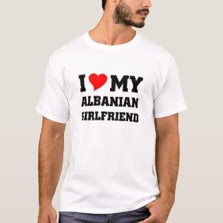 jag älskar min albanian flickvän t-shirt