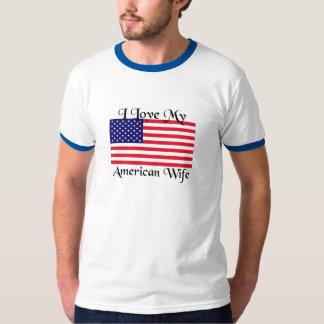 Jag älskar min amerikanfru t shirt