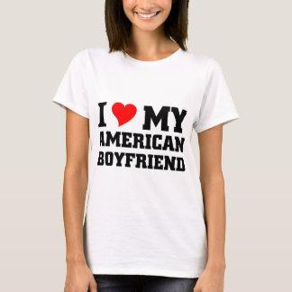 Jag älskar min amerikanpojkvän t shirts