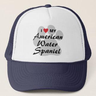 Jag älskar min amerikanvattenSpaniel Truckerkeps
