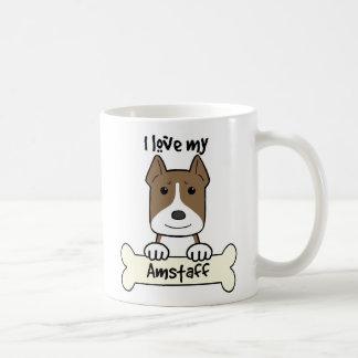 Jag älskar min Amstaff Kaffemugg