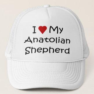 Jag älskar min Anatolian herdehund älskaregåvor Truckerkeps