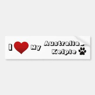 jag älskar min australiensiska Kelpie Bildekal