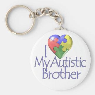 Jag älskar min Autistic broder Rund Nyckelring